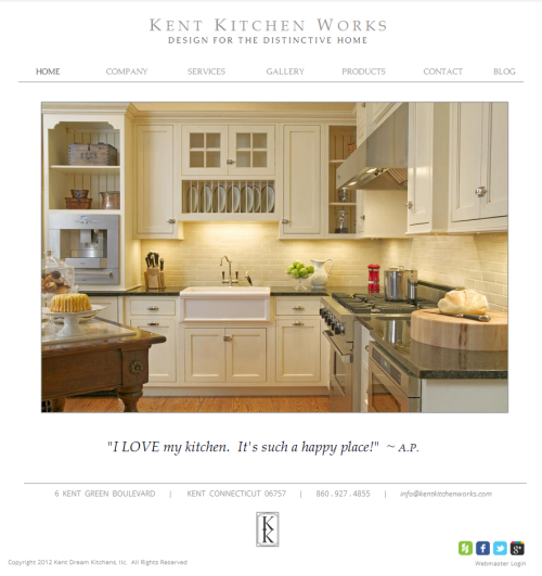 Kent Kitchen Works Website Re-Launch